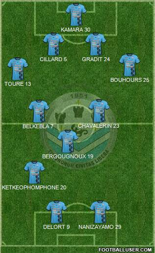 Tours Football Club 4-2-2-2 football formation