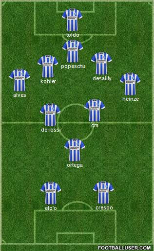 Brighton and Hove Albion 4-3-2-1 football formation