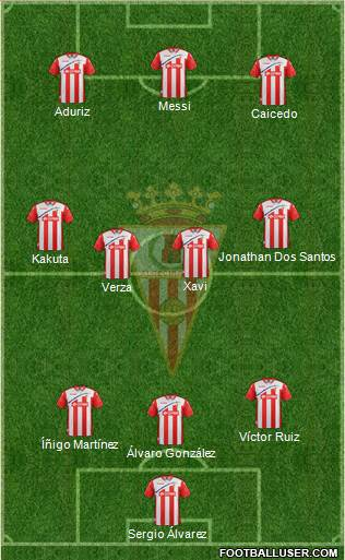 Algeciras C.F. 3-4-3 football formation