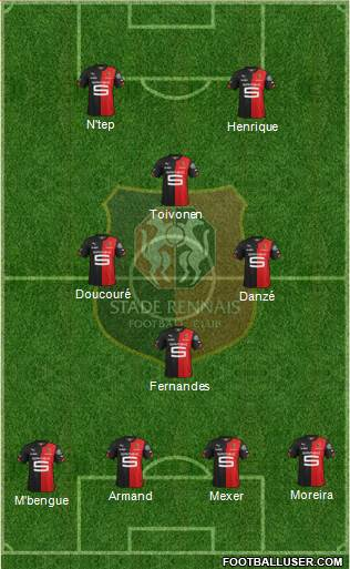 Stade Rennais Football Club 4-4-2 football formation