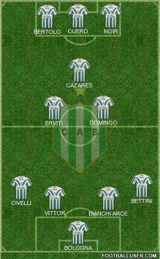 Banfield 3-5-1-1 football formation