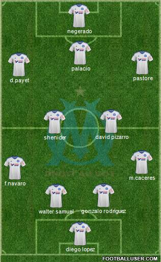Olympique de Marseille 4-4-1-1 football formation