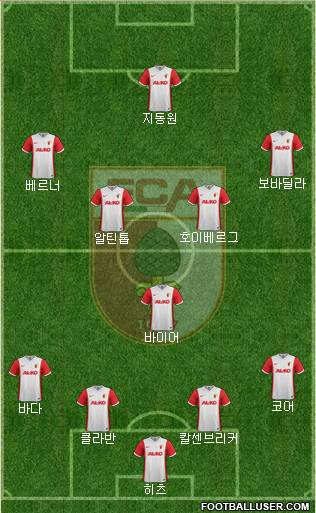 FC Augsburg 3-5-1-1 football formation