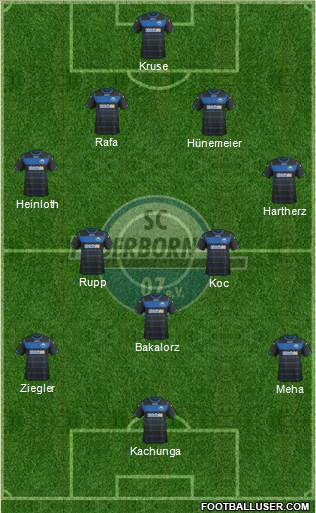 SC Paderborn 07 4-5-1 football formation