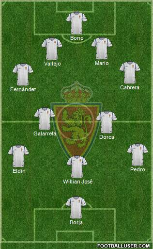 R. Zaragoza S.A.D. 3-5-1-1 football formation