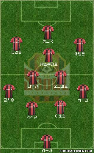 FC Seoul 4-3-1-2 football formation