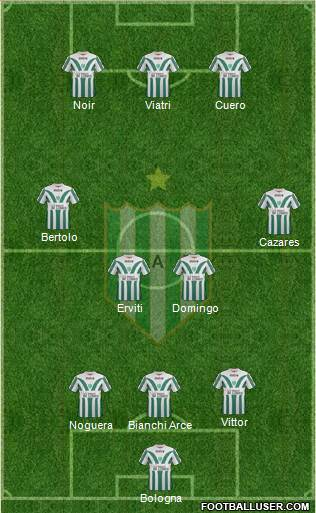 Banfield 3-4-3 football formation