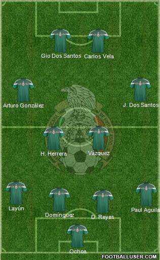 Mexico 4-2-2-2 football formation