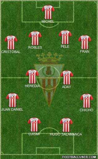 Algeciras C.F. 4-3-3 football formation