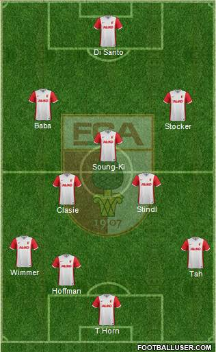 FC Augsburg 3-5-2 football formation
