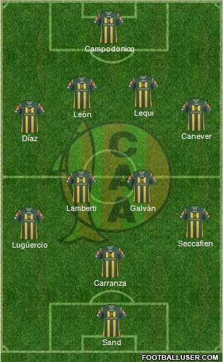 Aldosivi 4-2-2-2 football formation