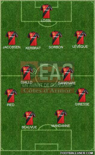 En Avant de Guingamp 4-4-2 football formation