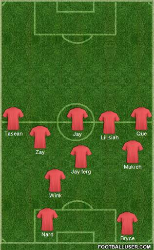 Football Manager Team 4-4-1-1 football formation