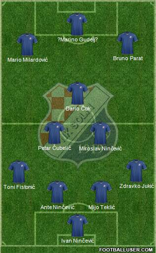 NK Solin 4-3-3 football formation