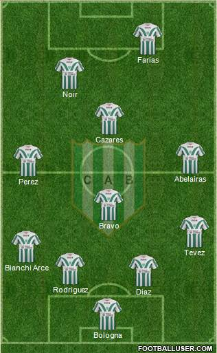 Banfield 4-1-4-1 football formation