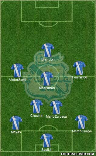 Club Puebla de la Franja 4-5-1 football formation
