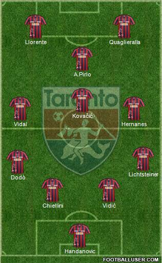 Taranto 4-3-1-2 football formation