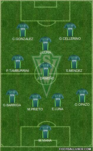 CD Santiago Wanderers S.A.D.P. 4-3-1-2 football formation