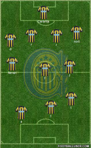 Rosario Central 5-4-1 football formation