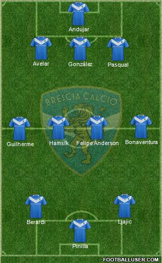 Brescia 4-4-1-1 football formation