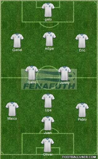 Honduras 4-2-3-1 football formation