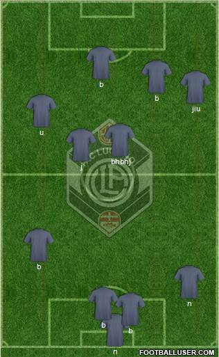 FC Lugano 4-4-2 football formation