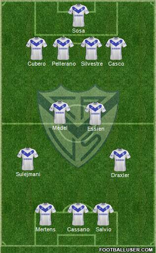 Vélez Sarsfield 3-5-1-1 football formation