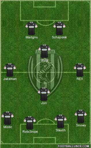 Cesena 4-1-4-1 football formation