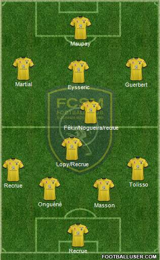 FC Sochaux-Montbéliard 4-1-4-1 football formation