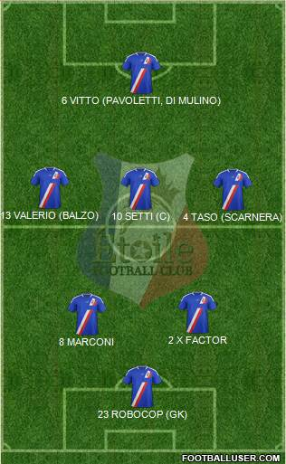 Etoile FC 5-3-2 football formation