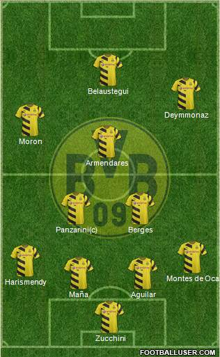 Borussia Dortmund 4-2-1-3 football formation