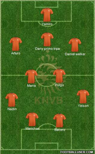 Holland 5-4-1 football formation