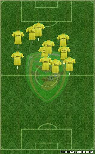 Mezzocorona 4-5-1 football formation