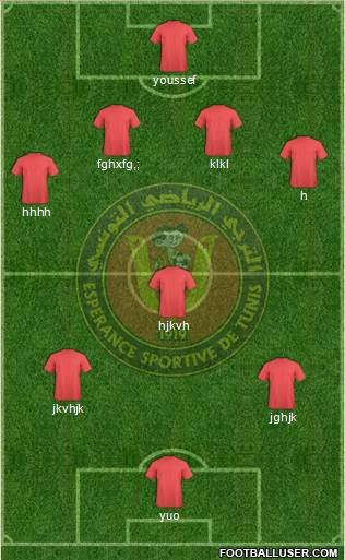 Espérance Sportive de Tunis 4-2-3-1 football formation