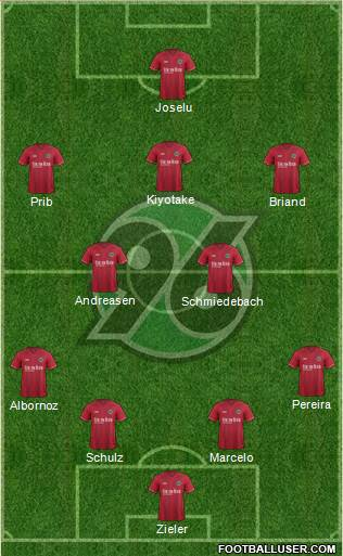 Hannover 96 4-2-3-1 football formation
