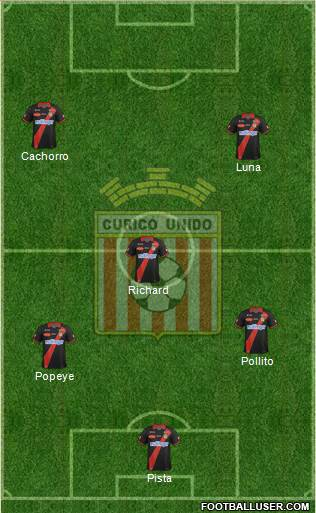 CD Provincial Curicó Unido 5-4-1 football formation
