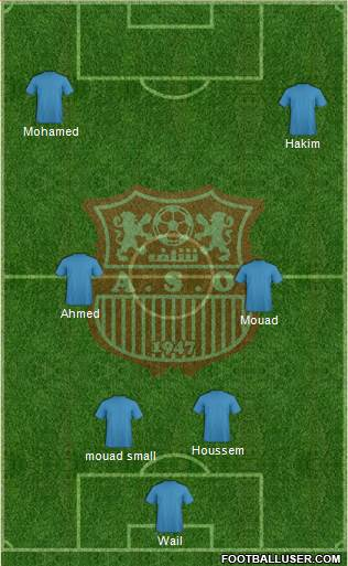 Amel Saad Olympic Chlef 5-3-2 football formation