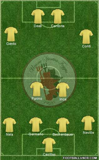 Foggia 4-2-4 football formation