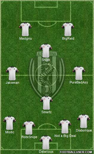 Cesena 3-5-1-1 football formation