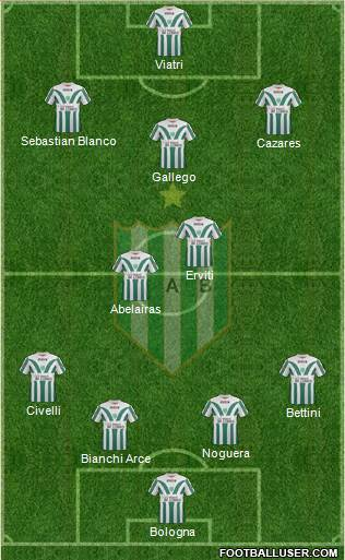 Banfield 4-5-1 football formation