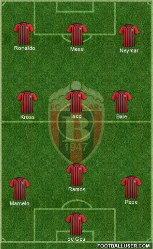 FK Vardar Skopje 4-3-2-1 football formation
