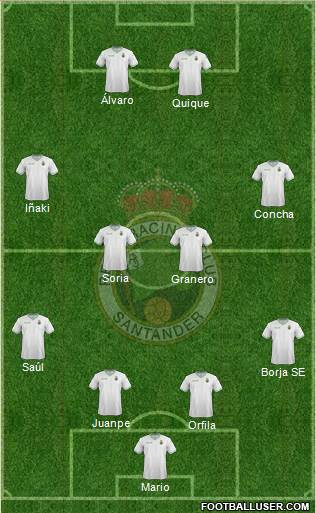 R. Racing Club S.A.D. 4-4-2 football formation