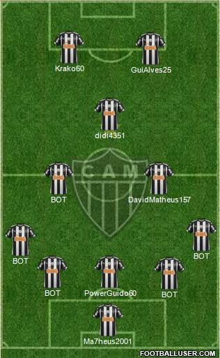 C Atlético Mineiro 5-3-2 football formation