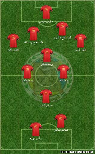 Haras El-Hodoud 4-3-1-2 football formation