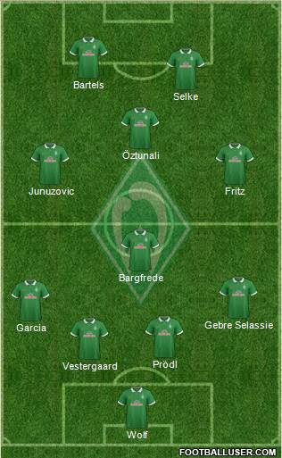 Werder Bremen 4-4-1-1 football formation