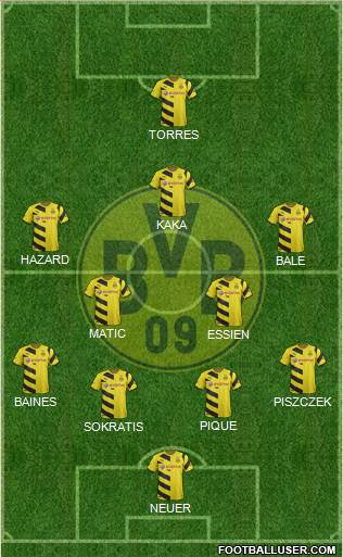 Borussia Dortmund 4-4-1-1 football formation