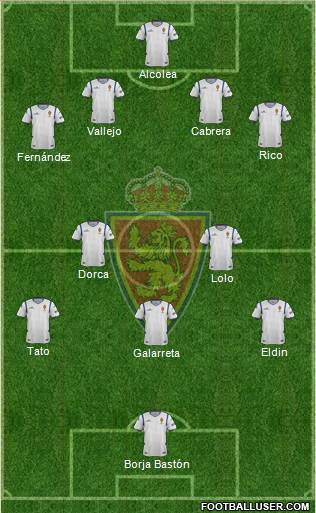 R. Zaragoza S.A.D. 4-4-1-1 football formation