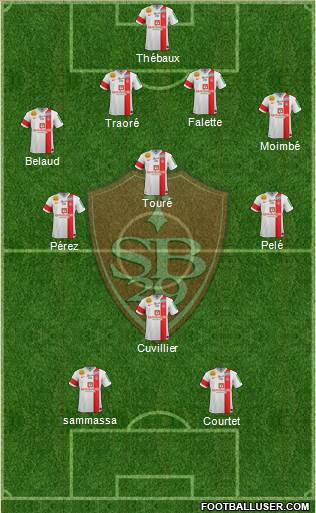 Stade Brestois 29 4-1-3-2 football formation