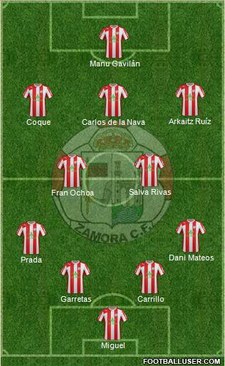 Zamora C.F. 4-2-3-1 football formation