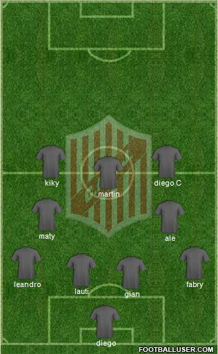 9 de Julio 3-5-1-1 football formation